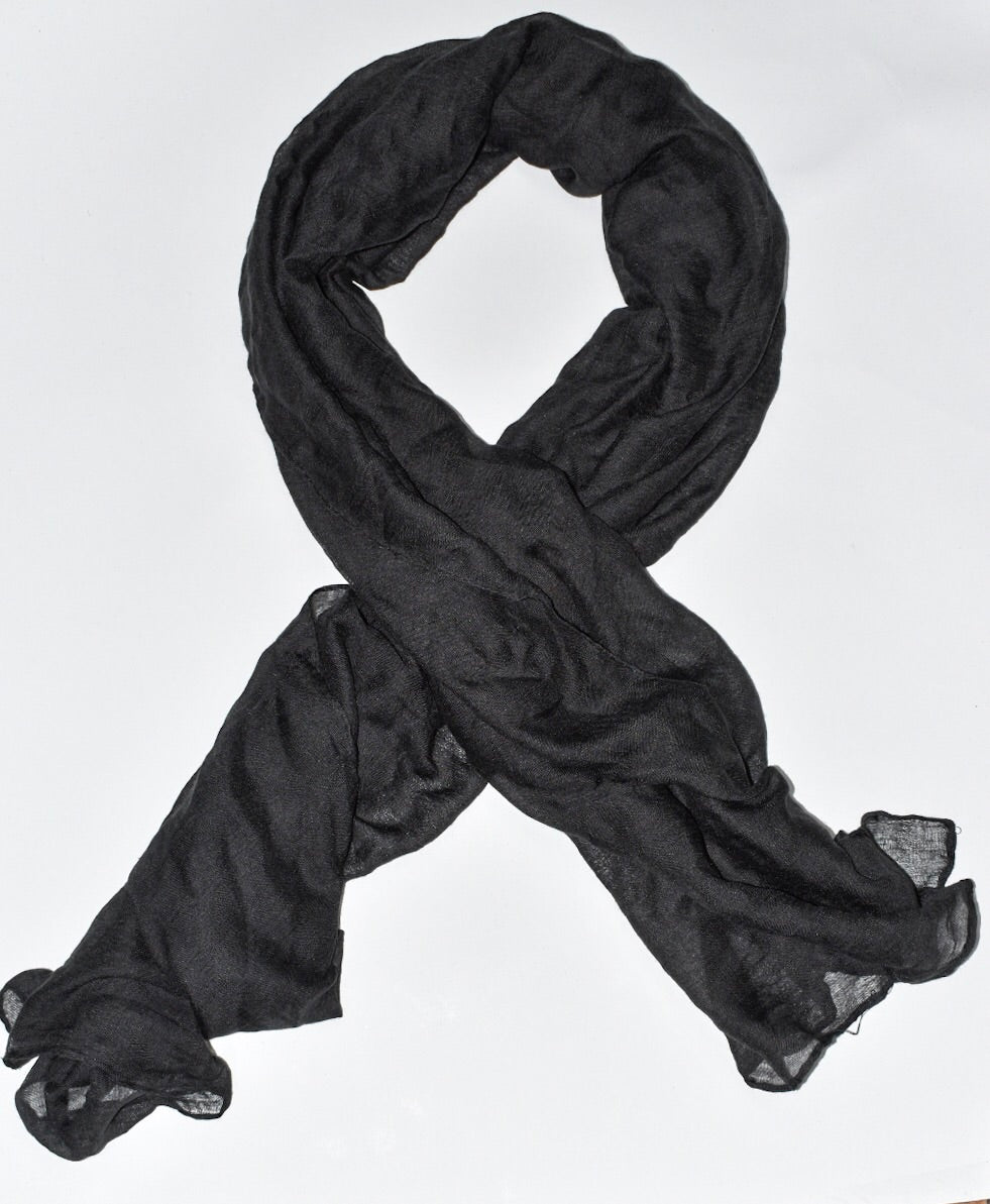 Black Viscose Hijab