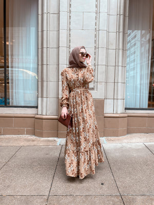 Bloom Maxi Dress - Chestnut