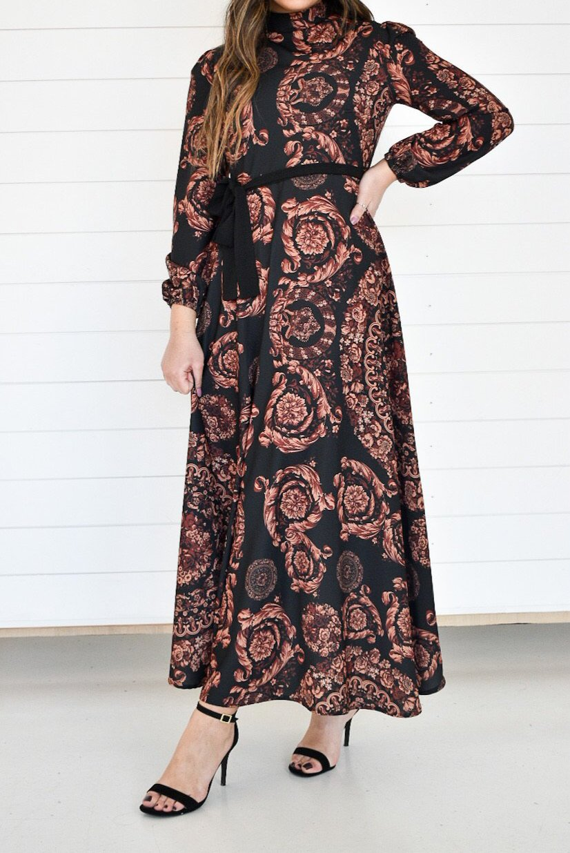 Printed Maxi Dress - Luxe