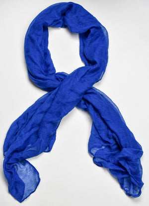 Royal Blue Viscose Hijab