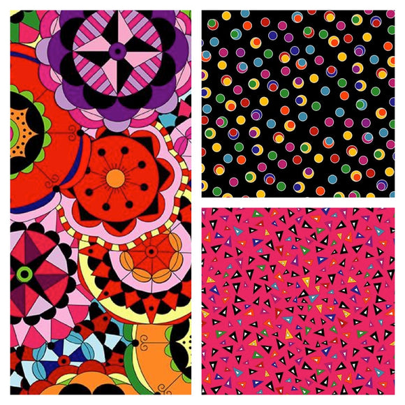 Colour Splash by Jackie Kunkel of Canton Village Quilt Works