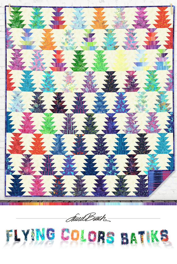 Clothworks - Flying Colors Batiks