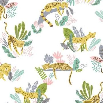 Lions Tigers and More by Katy Tanis for Blend Fabrics