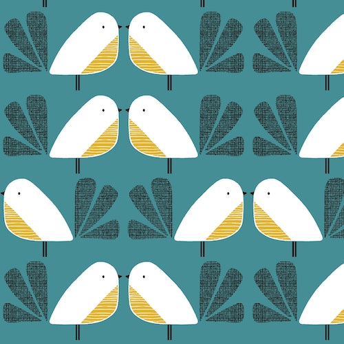 Dashwood Studio - Nesting Birds Cotton/Linen