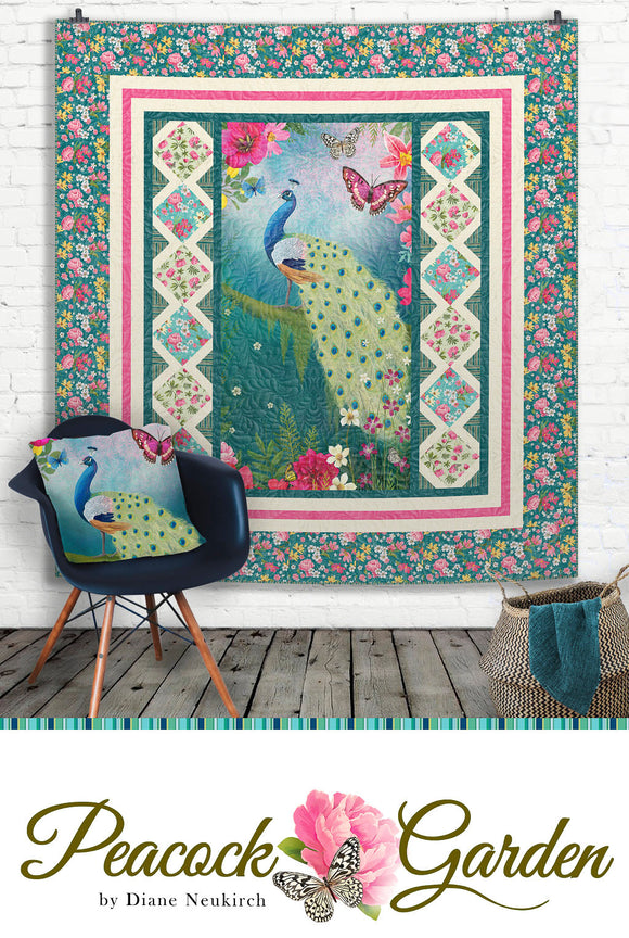 Peackock Garden by Diane Neukirch for Clothworks