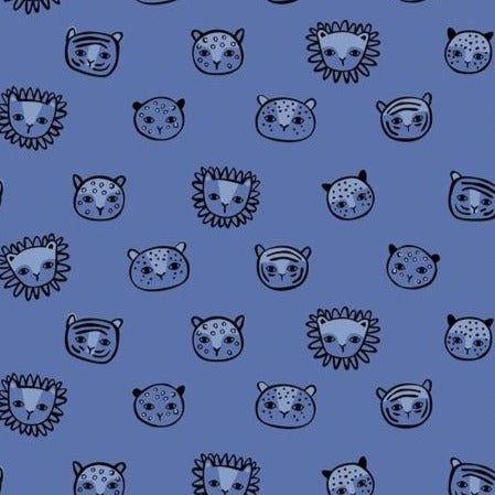 124.110.02.2 Feline Faces Blue
