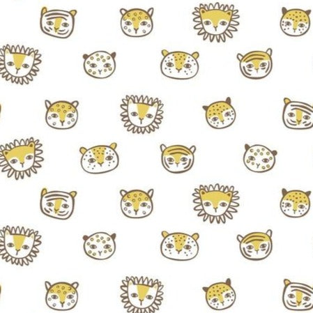 124.110.02.3 Feline Faces White