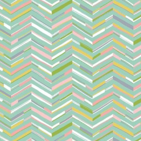 124.110.04.1 Painted Chevron Aqua