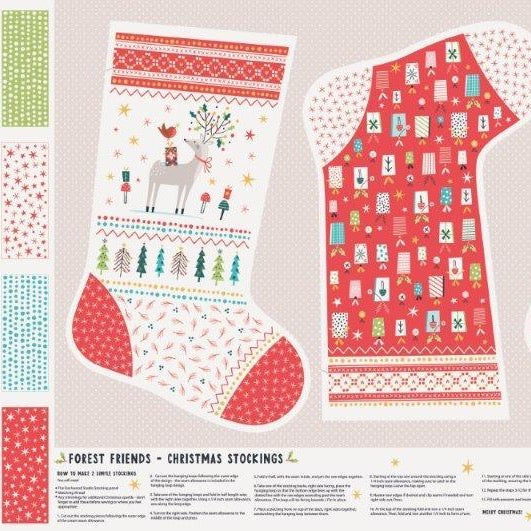 Forest Friends Christmas Stockings by Ali Brooks for Dashwood Studio