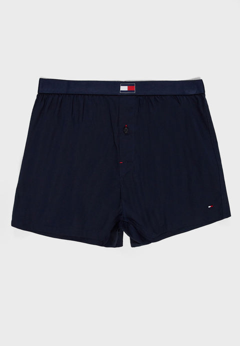Tommy Hilfiger Woven Cotton Blend Boxer Black