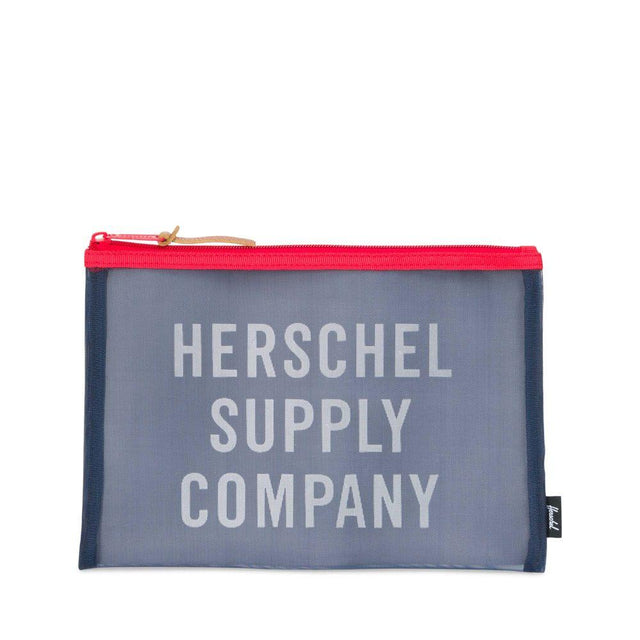 Herschel Supply Network Pouch Large Mesh Navy/Red 10163-01605