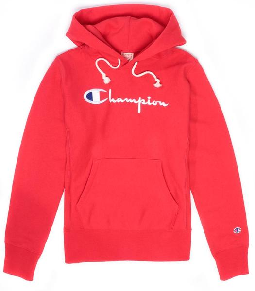 Champion Reverse Weave Script Logo Women's Hoody Red