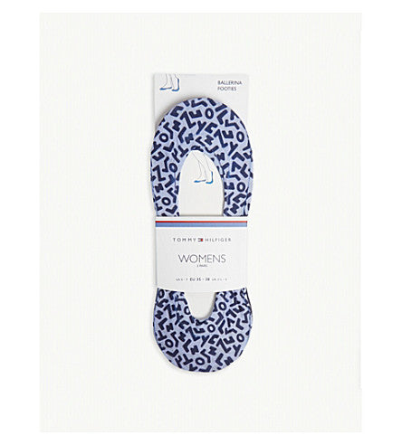 Tommy Hilfiger Women Print Footie Socks - 2 Pack