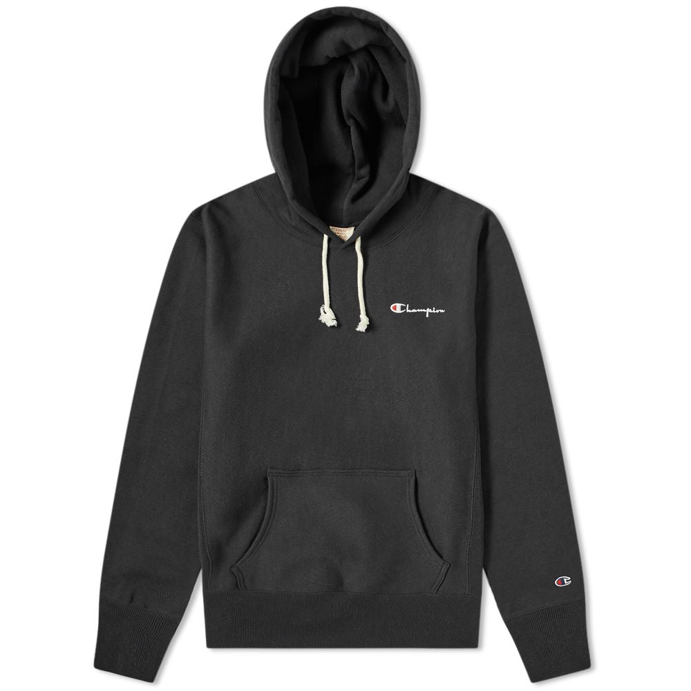 Champion Reverse Weave Small Script Logo Sweatshirt Black