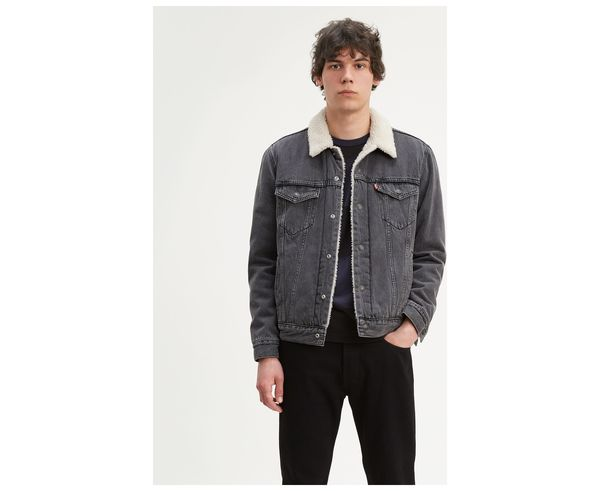 Levi's® Type 3 Sherpa Trucker Jacket Washed Black
