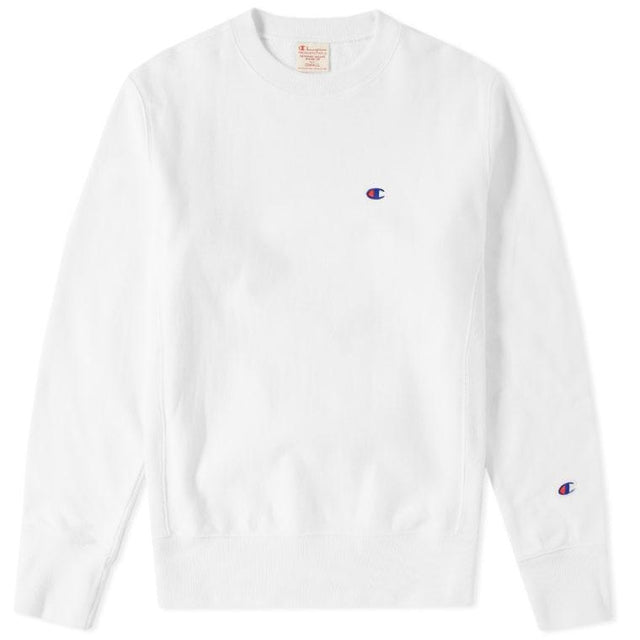 Champion Reverse Weave Crewneck Sweatshirt White