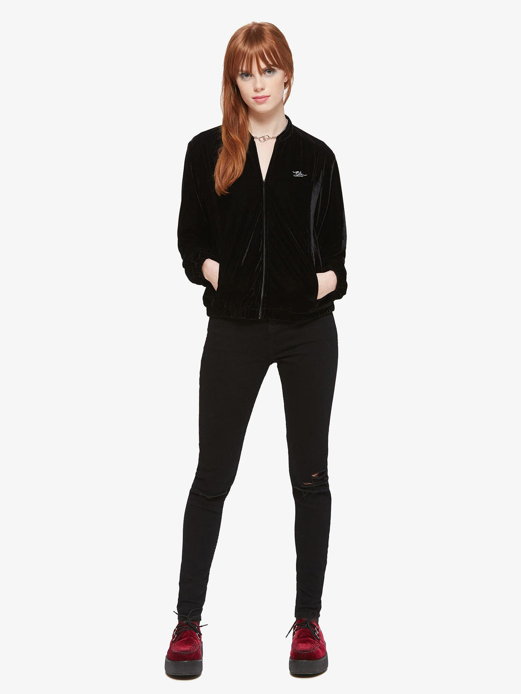 OBEY Tough Love Black Velvet Jacket