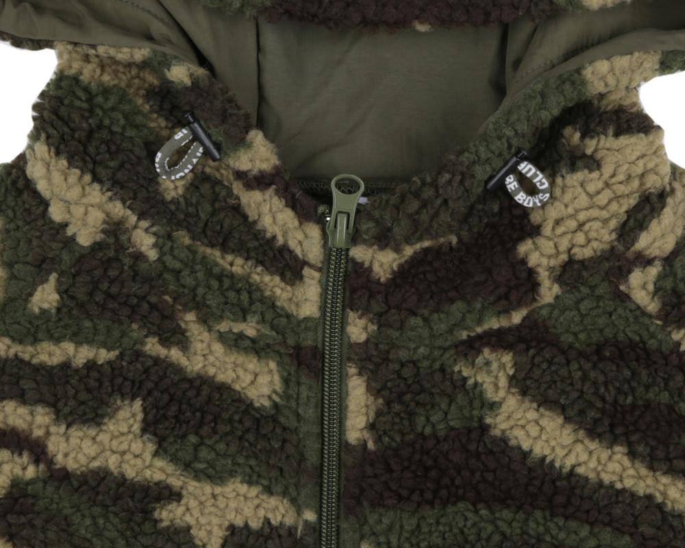 Billionaire Boys Club Sherpa Fleece Hooded Zip Through