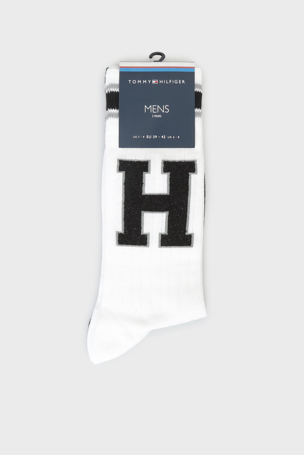 Tommy Hilfiger TH Patch White Socks - 2 Pack