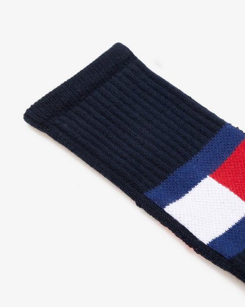 Tommy Jeans Flag Socks Dark Navy