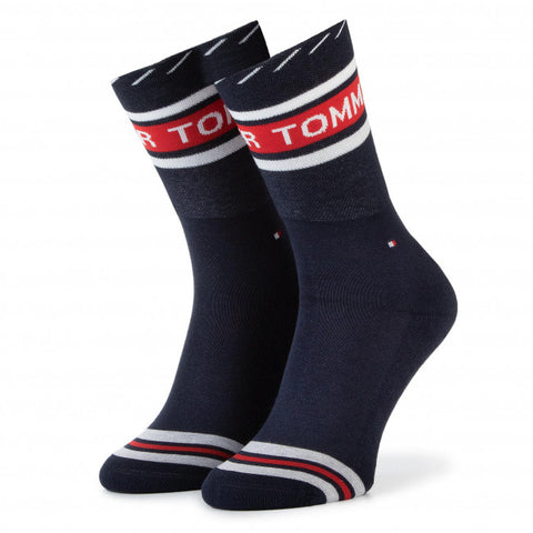Tommy Jeans Women's Logo Socks Navy