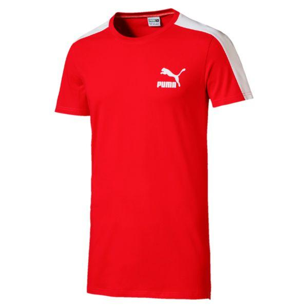Puma Archive T7 Stripe Flame Tee Red