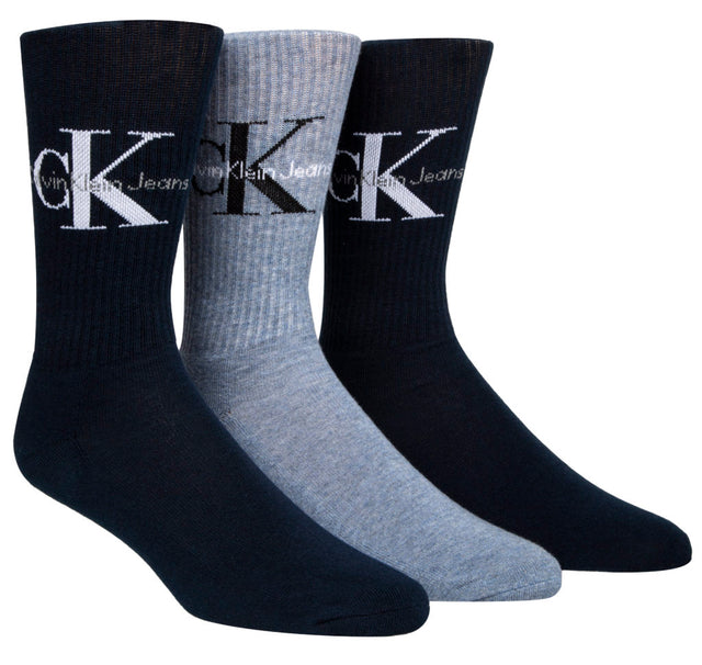 Calvin Klein Jeans Logo Sof Cotton Socks Gift Box Black - 3 Pack