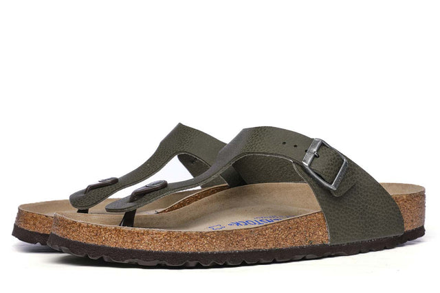 Birkenstock Gizeh SFB BF Desert Soil Green Men's Sandals