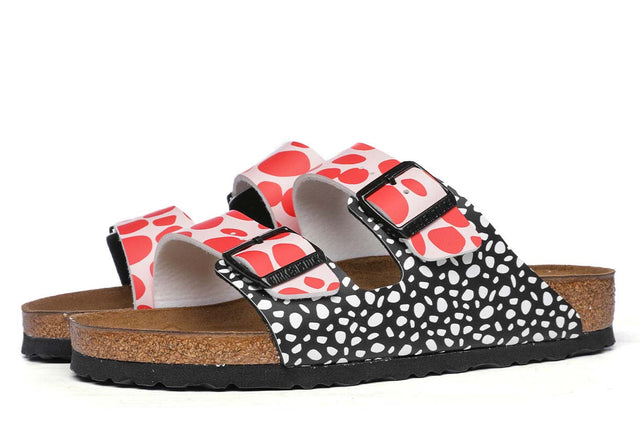 Birkenstock Arizona Two-tone Dots Pink/Red Sandals