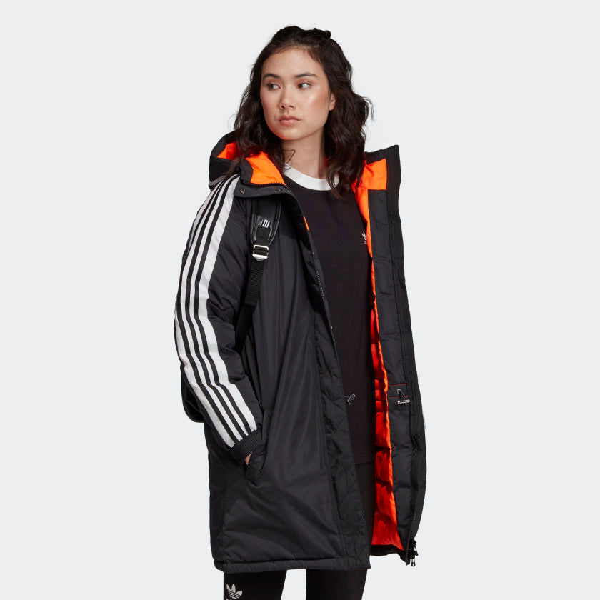 adidas Originals Long Synthetic Down Jacket Black ED7585