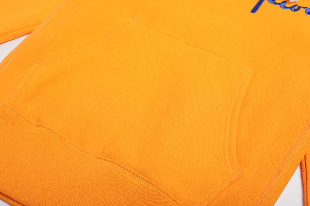 Champion Reverse Weave Script Logo Hoody Orange
