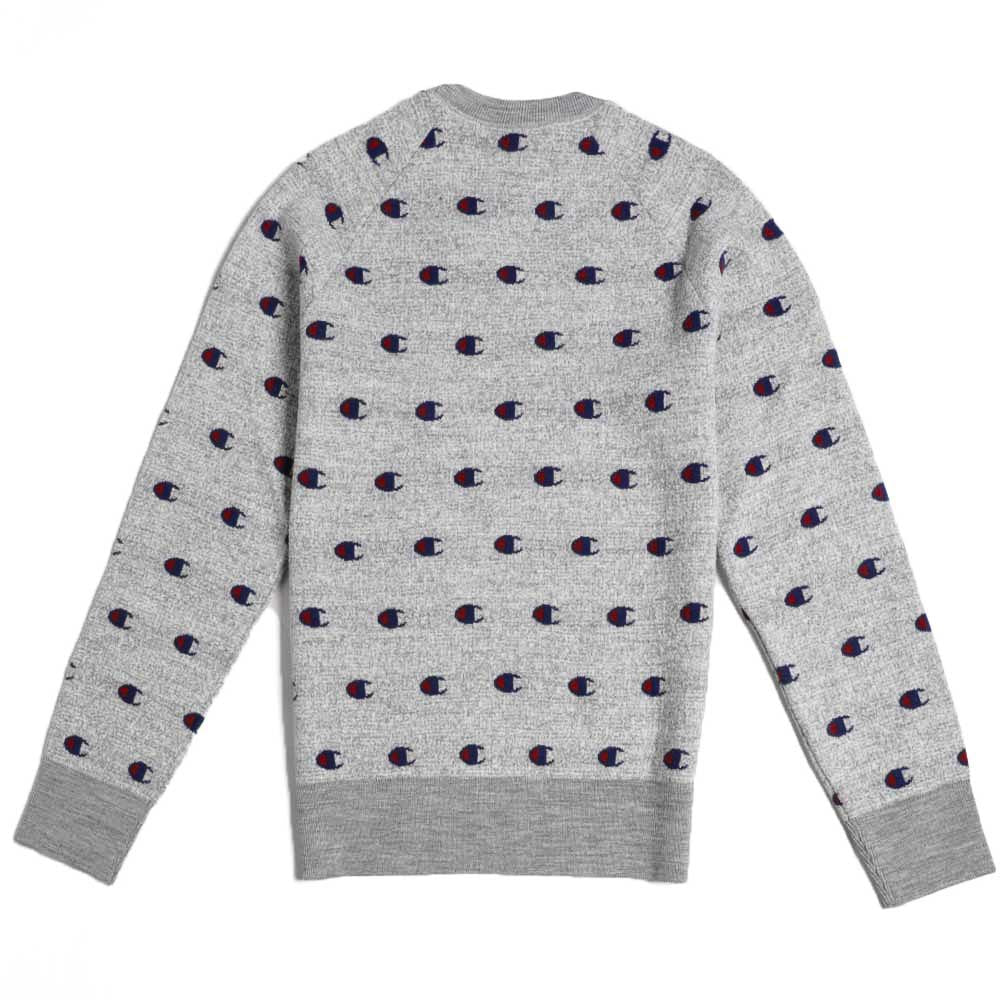 Champion Reverse Allover C Crewneck Sweater Grey