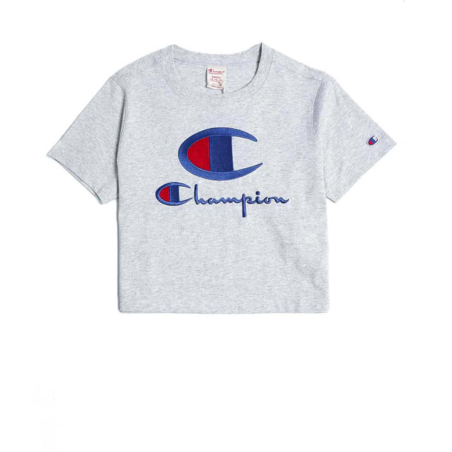 Champion Reverse Weave Crewneck Crop Top Grey
