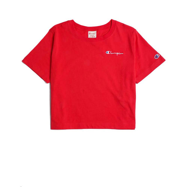 Champion Reverse Weave Crewneck Croptop Red