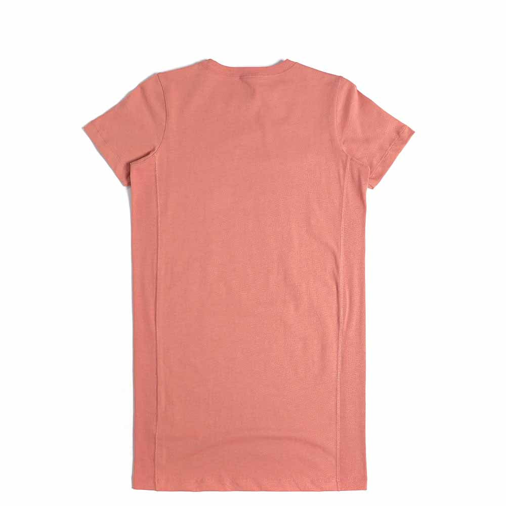 Champion Reverse Weave Script Logo Midi T-Shirt Dress Pink 111653