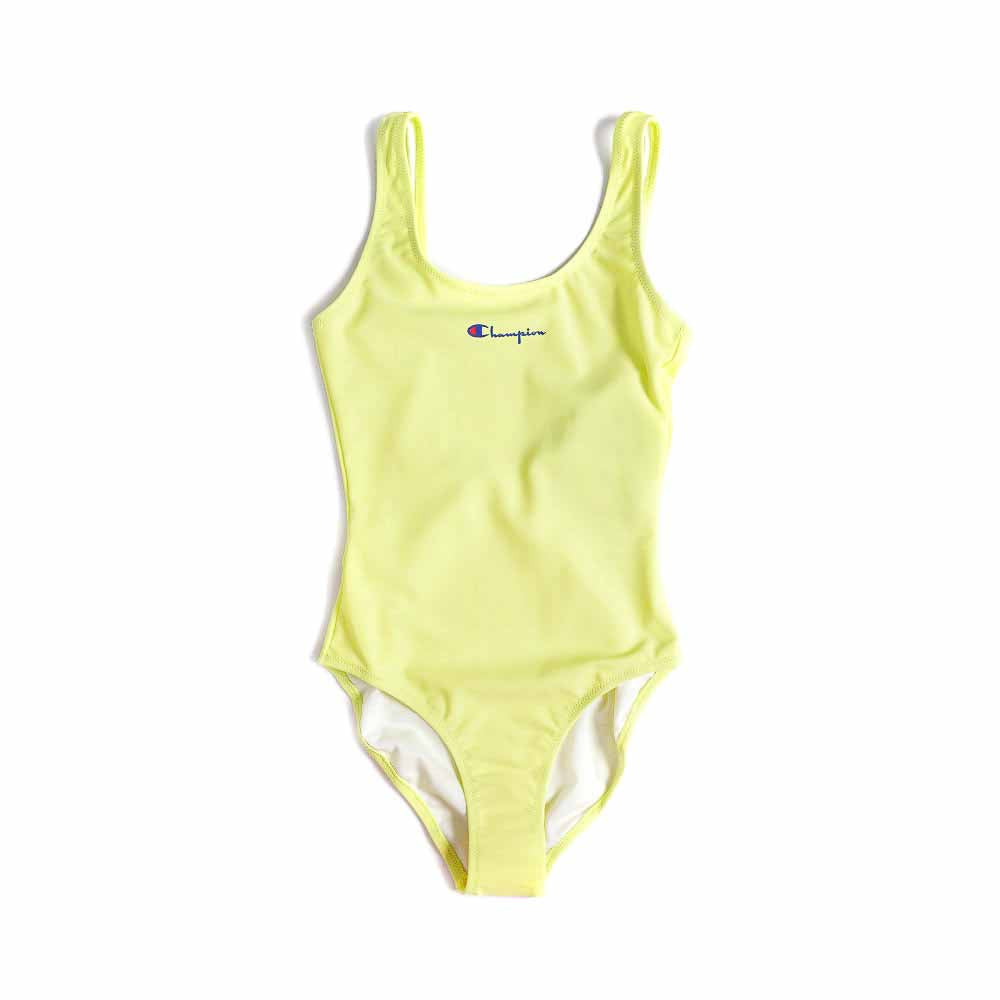 Champion Script Logo Yellow Swimsuit 111601 LML