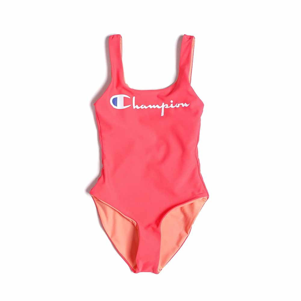 Champion Reversible Script Logo Scoop Back Swimsuit 111602