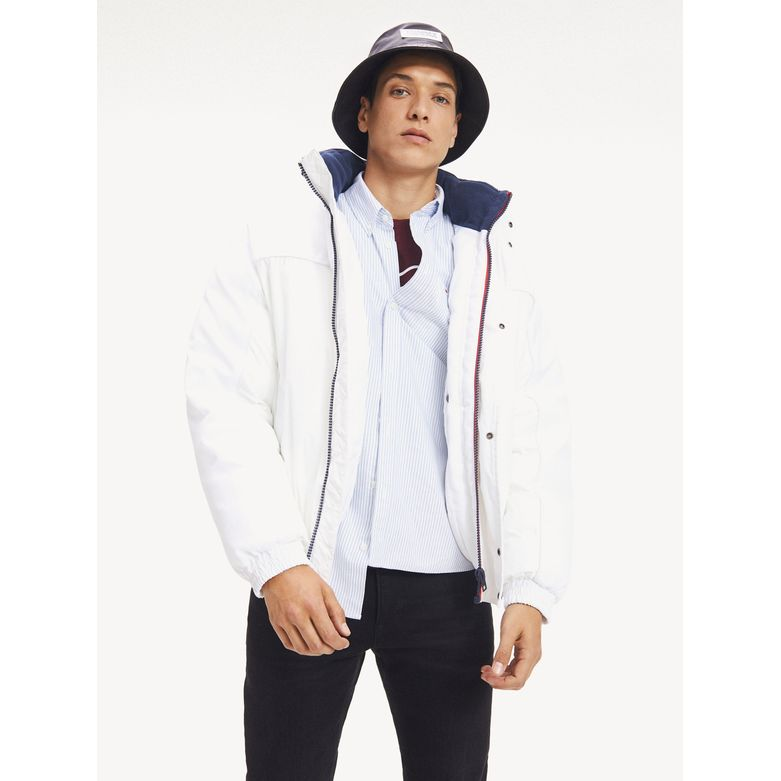 Tommy Jeans Branded Collar Jacket Classic White