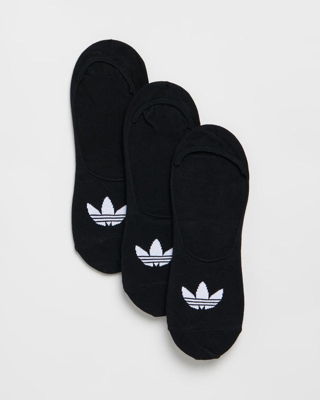 adidas Originals No Show Sneaker Black Socks 3 Pack