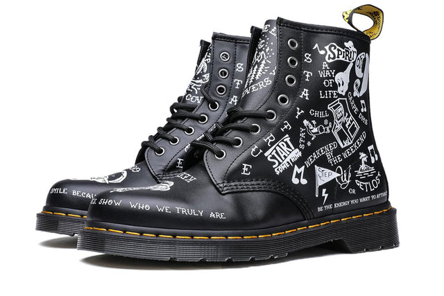 Dr. Martens 1460 8I Scribble Black Backhand Boots DM25245009