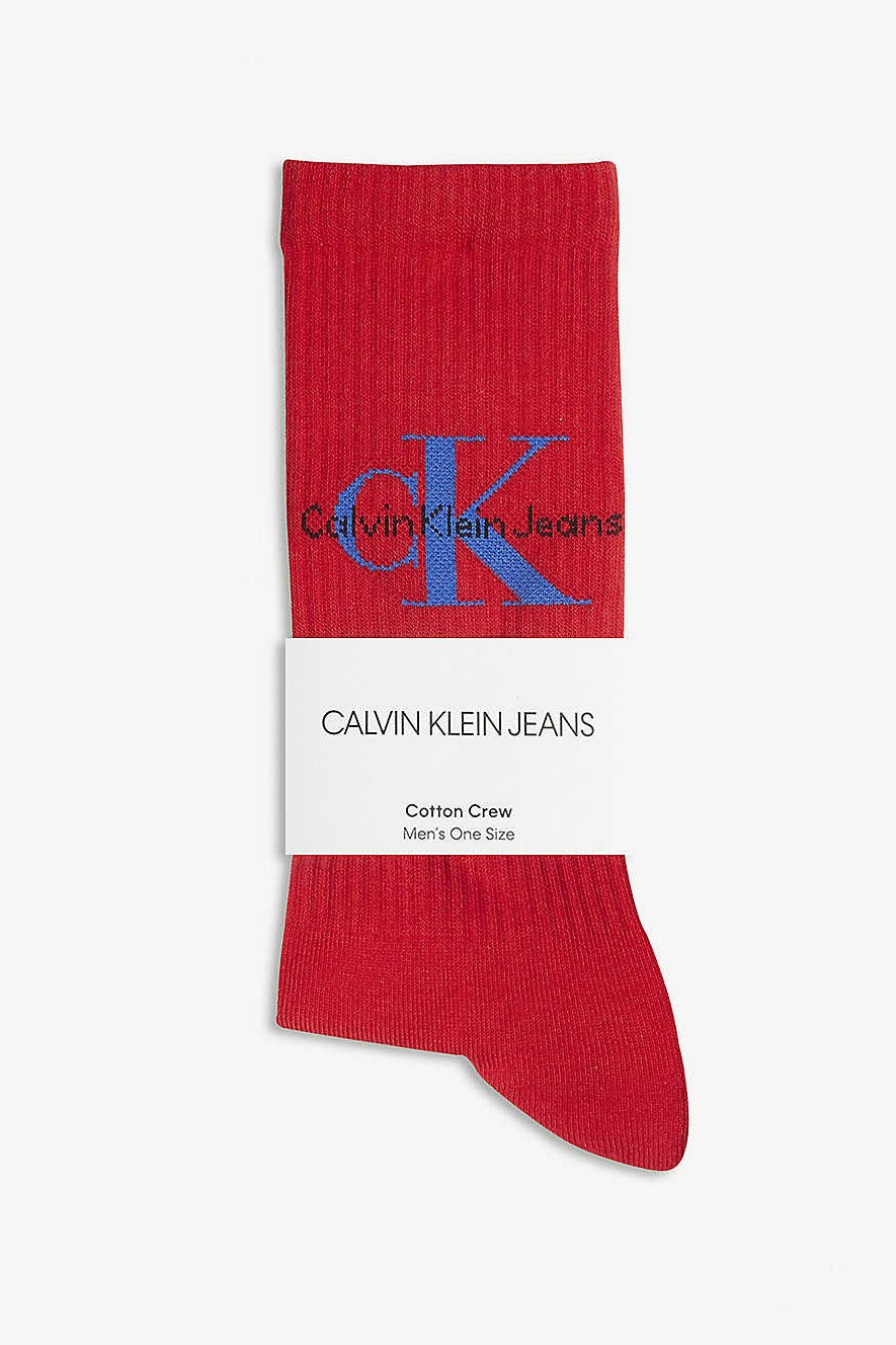Calvin Klein Jeans Cotton Crew Socks Red