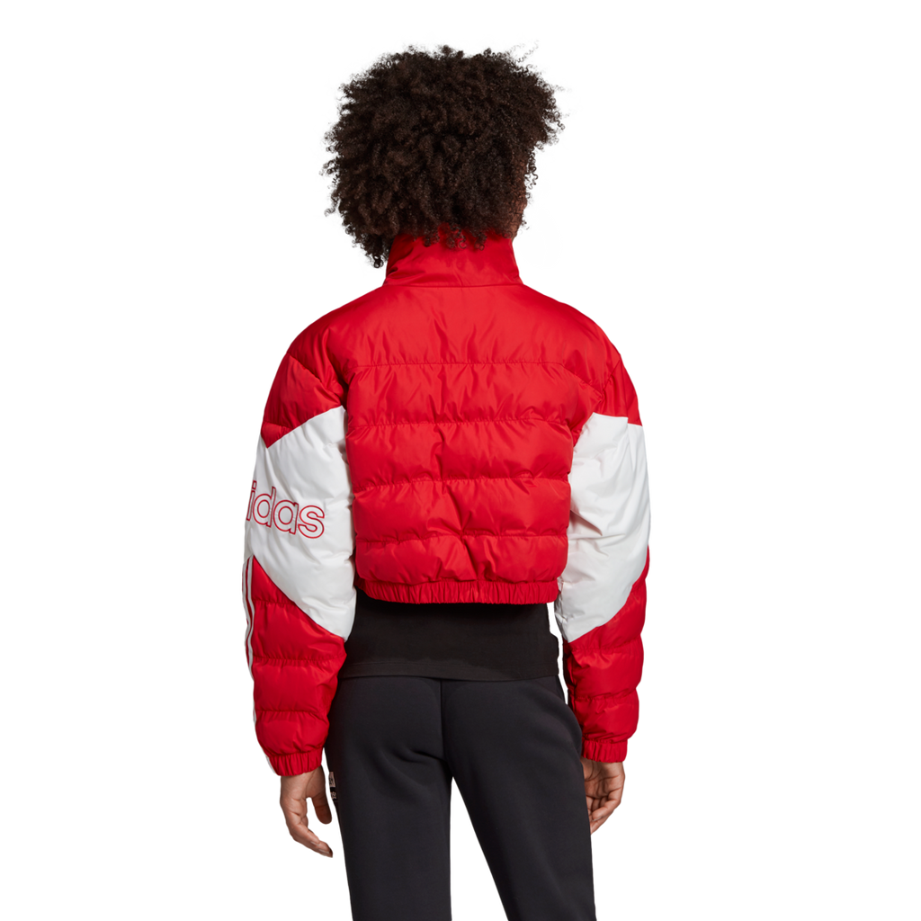 adidas Originals Cropped Puffer Jacket Red ED7599
