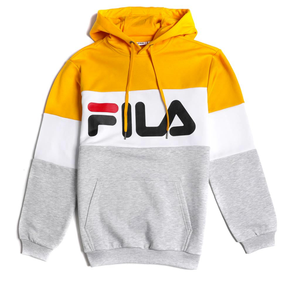 Fila Night Blocked Hoodie Light Grey