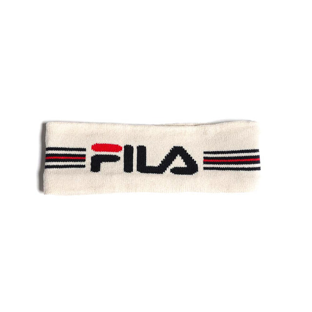 FILA Intarsia Knitted Headband White
