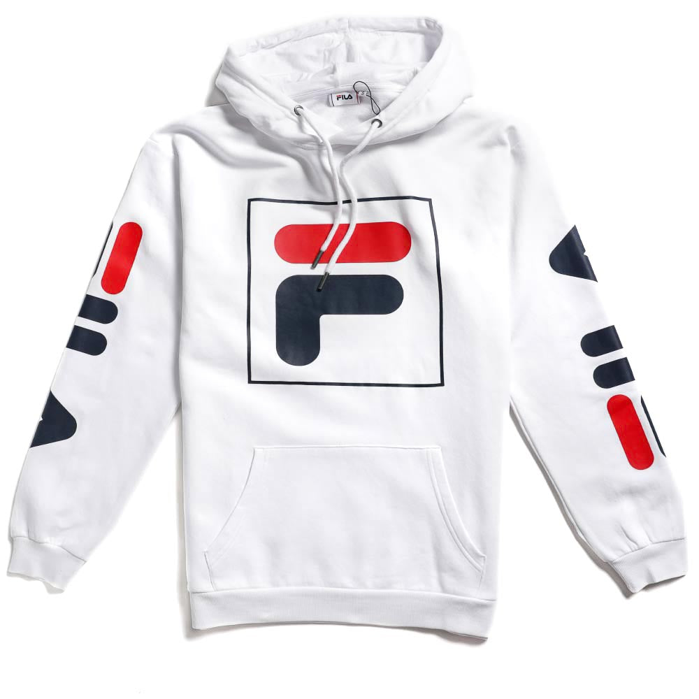 Fila Men's Total Hoodie Bright White