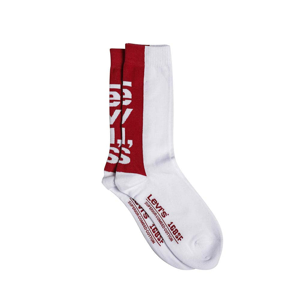 Levi´s® Regular Cut Sportwear Logo White Socks 2 Pack