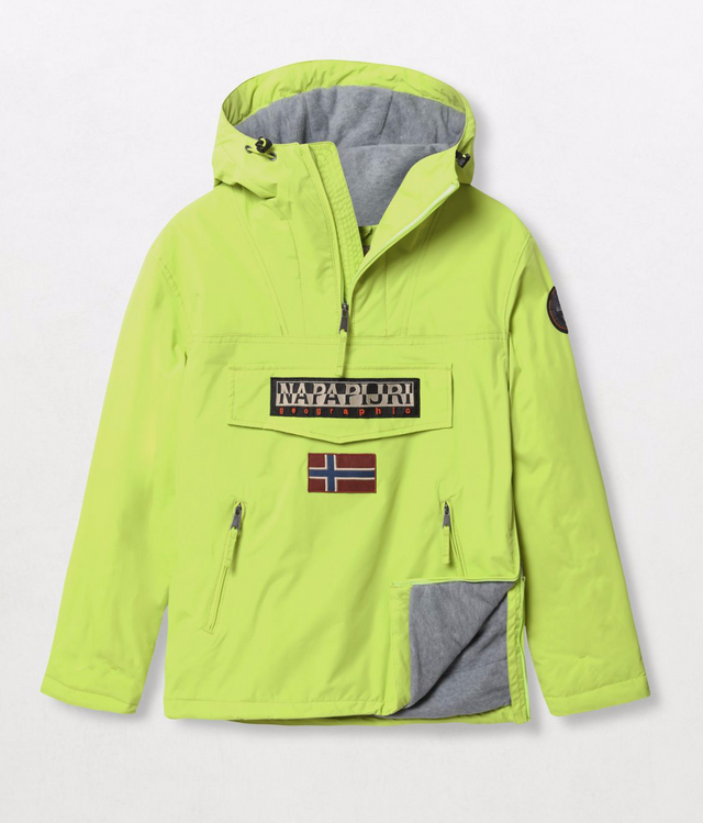 Napapijri Tribe Rainforest Pocket Jacket Yellow Lime