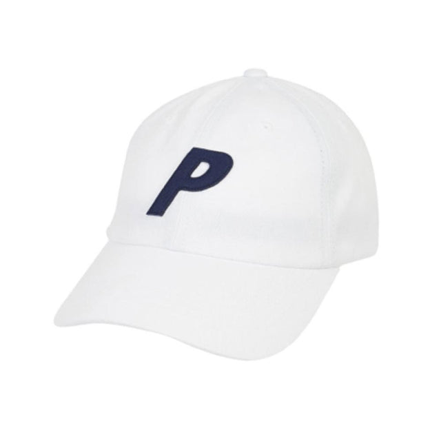 Palace P 6-Panel Cap White