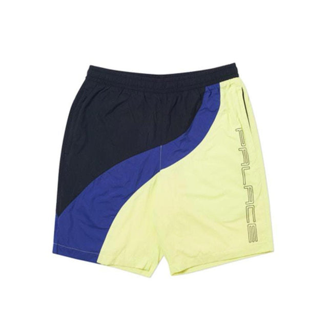 Palace Wave Runner Shell Shorts Yellow/Blue/Black