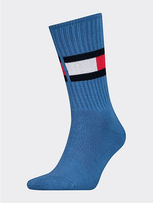 Tommy Jeans Flag Socks Light Blue